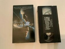 2001 Unbreakable Vhs Video Tape Bruce Willis