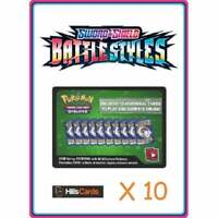 10 Sword and Shield Battle Styles Codes | Pokemon TCG Online Code Cards TCGO 5 &