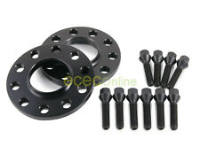 12mm Hubcentric 5x120 Wheel Spacers 72.6mm + 14x1.25 Cone Seat Black Lug Bolts