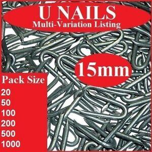 15mm U Nails   Netting Staples    Galvanised Fencing Chicken Wire