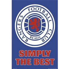 Rangers FC Scotland poster crest officially licensed product new SPL Gers soccer