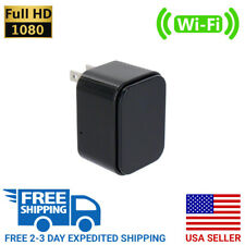 1080P HD WiFi USB Charger Hidden Nanny Cam Spy Camera w/ Wide Angle Lens