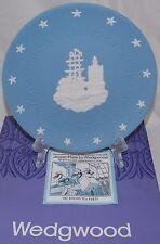 "WEDGWOOD BLUE JASPER WARE AMERICAN INDEPENDANCE BOSTON TEA PARTY 8"" PLATE"
