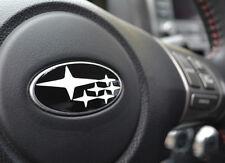 White  WRX/STI  Forester Steering Wheel Center Logo Decal Emlem Badge FOR SUBARU