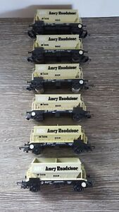 6 x Lima ARC Amey Roadstone Hopper Wagons OO Gauge all in good condition