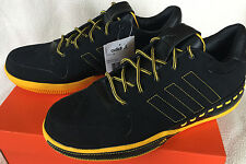 Adidas Lux Low 677548 Luxury Yellow Black Leather Basketball Shoes Men's 10.5