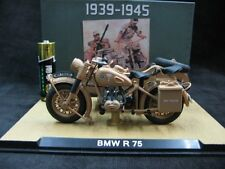Atlas 1:24 Bmw Wwii German R75 sidecar motorcycle model Toys Gifts Decorations