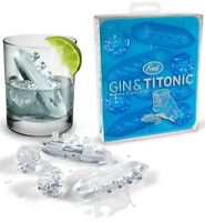Fred Gin and Titonic Novelty Ice Cubes Tray Includes 4 Ocean Liners & Icebergs