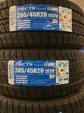 2X NEW SAFERICH FRC79 WINTER/SNOW/ICE/MUD 245/45 R20 A1 CAR TYRES 245 45 20 M&S