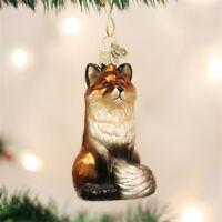 Fox Glass Ornament