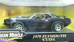 American Muscle ERTL 1970 Plymouth 'Cuda Black 1/18 Hobby Edition 1 of 5000 MIB