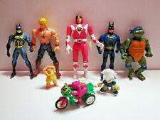 Lot of 8 1993 Bandai Mighty Morphin Power Rangers Pink Kimberly, Batman, Ninja