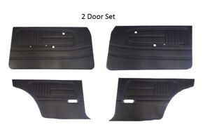 Datsun 510 68-73  Door Panel Card Set 2 door Black NEW 1465F