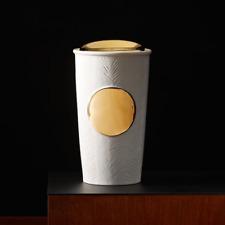 Starbucks White Feather  Double Wall Insulated Traveler/10 fl oz