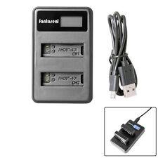 GoPro Hero inteligente rápido AHDBT 401 Doble Batería Cargador USB (E313)