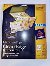 Avery 8869 Inkjet Matte Business Cards 2 X 3 12 White 20x8sheet 160pack