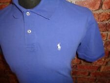 Polo by Ralph Lauren Blue Short Sleeved Polo Shirt Large Mod Retro Hipster