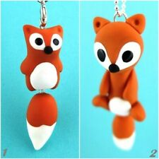 1x fuchs As Cell Phone Strap/Necklace Lolita Burlesque Animal Jewelry From Fimo