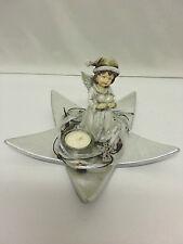 Weihnachten Deko-Set Weihnachtsteller Teelichthalter Tisch Stern silber  NEU