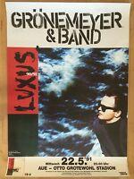 HERBERT GRÖNEMEYER 1991 AUE - orig. Concert Poster - Konzert Plakat  A1  NEU