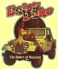 Vintage 1980 Daisy Duke The Dukes of Hazzard Iron-On Transfer Jeep Sexy RARE!