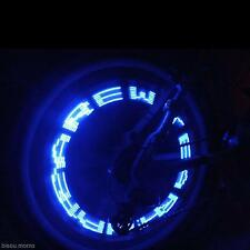 Waterproof LED Letter Automatically Flash Light Car Bike Wheel Tyre Valve Blue