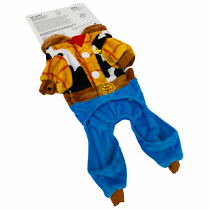 NWT Pixar Toy Story Primark Woody Halloween Dog Outfit Pet Costume Hood S