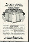 1929 General Electric Refrigerator advertisement, early MONITOR-TOP fridge, GE photo