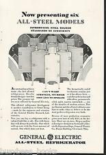 1929 General Electric Refrigerator advertisement, early MONITOR-TOP fridge, GE