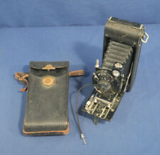 Vtg Antique 1920's No. 1A Pocket Kodak Special Camera Folding Autographic + Case