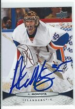 Al Montoya Signed 2011/12 Upper Deck Card #86