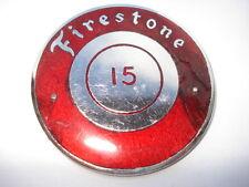 C1950s VINTAGE FIRESTONE PNEUMATICI N0 15 personale driver smalto pin badge