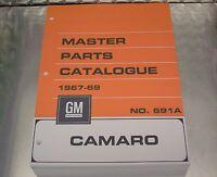 67-69 CAMARO MASTER PARTS CATALOG July or March 1969 printings