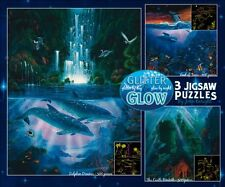 Dolphin Dreams Ocean Enright Glitter & Glow 3 in 1 Jigsaw Puzzle New Sealed Box