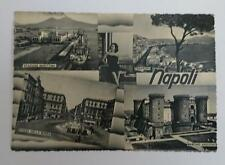 Vintage post card Postcard - Naples 5 Images, Italy 1950's