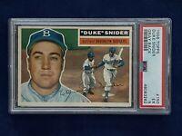 🔥👀1956 Topps #150 Duke Snider Gray Back PSA EX 5 Dodgers Sweet ! 👀🔥