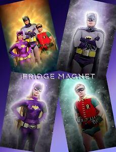 BATMAN Adam West Burt Ward Yvonne Craig Collectible FRIDGE MAGNET Set x 4