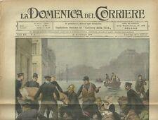 La Domenica del Corriere 6 - 13 Febbraio 1910 Inondazione di Parigi