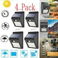 4Pack Outdoor Solar Lights Motion Sensor Wall Waterproof Garden Yard Lamp 20 LED