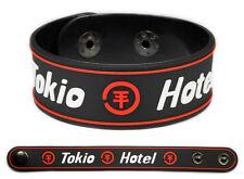 TOKIO HOTEL Rubber Bracelet Wristband << Zimmer 483 >> Red