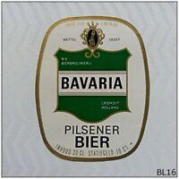 Bavaria Pilsener Bier NV Bierbrouwerij Leshout Holland Beer Label (BL16)