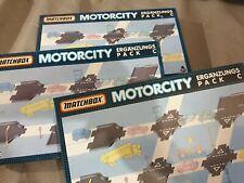3x Matchbox Motorcity Ergänzungs-Pack C Schienen Set - Track Pack / Kreuzungen