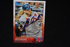 MIKE NAPOLI  2015 TOPPS SIGNED BASEBALL CARD #103 AUTO RANGERS CLEVELAND INDIANS