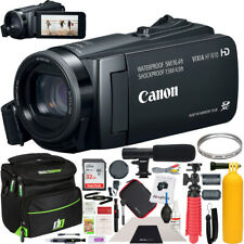 Canon Vixia Hf W10 Camcorder Full Hd 1080p Waterproof Video Camera + Case Bundle