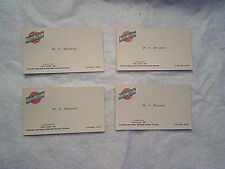 4-CHICAGO & NORTHWESTERN RAILROAD CONDUCTOR CARDS,Twin Cities 400,adams,wi.train