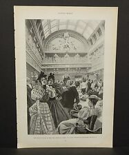 Harper's Weekly Single Page The Grand Saloon c1890s A6#60