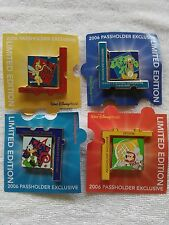 181Z Disney Limited Edition Passholder Puzzle Collection 2006 of 4 spinner pins
