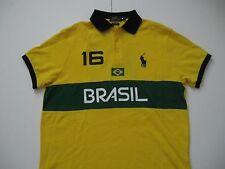 POLO RALPH LAUREN Men's Custom-Fit BRASIL Country Polo Shirt XL