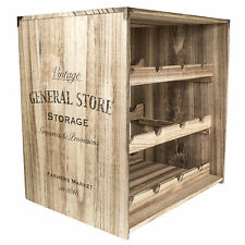40CM WINE RACK CABINET 12 BOTTLE STORAGE CRATE HOLDER VINTAGE HOME WOODEN HOLDS