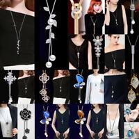 Hot Women Long Necklace Pendant Chain Alloy Tassels Sweater Statement Jewelry
